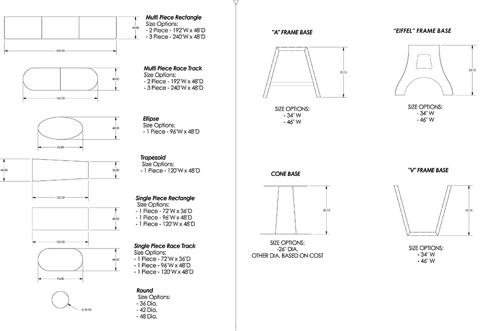 Conference Table Size Diagram Basic Guide Wiring Diagram - Conference table size guide