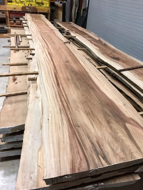 Sneak Peak at the Live Edge Slab that we are using in our new product at NeoCon!
