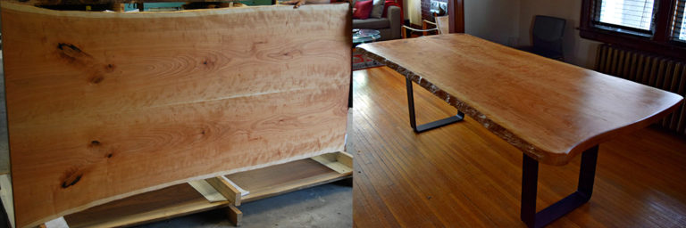 Live Edge Cherry Top, image by Masxun Seating Solutions