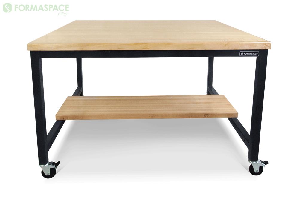 workbench with maple half shelf