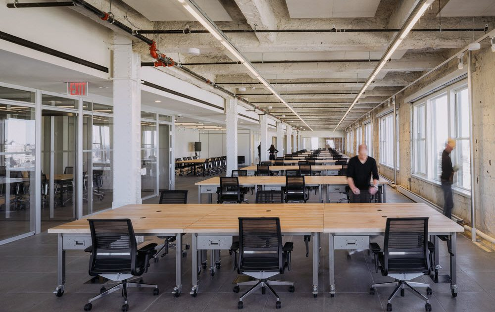 Parabola Industrial Open Office Design
