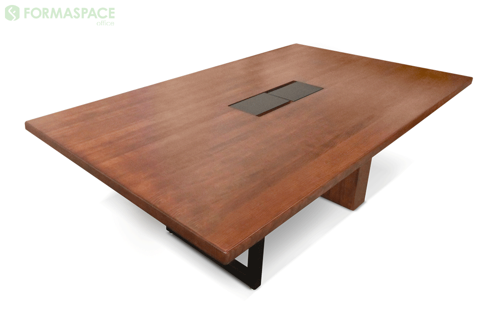 small wood conference table