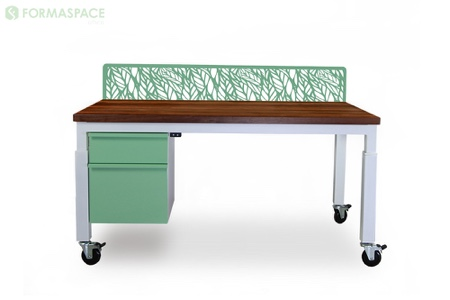 height adjustable pale green desk thumbnail