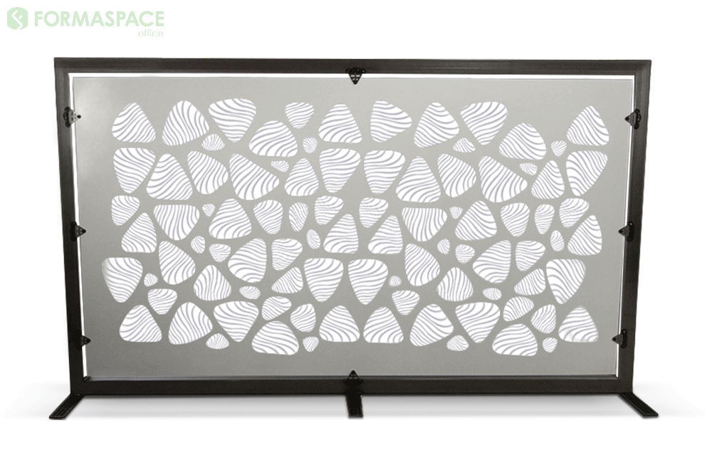 silver gray privacy panel