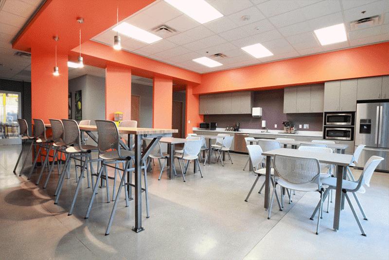 Busch lounge cafeteria