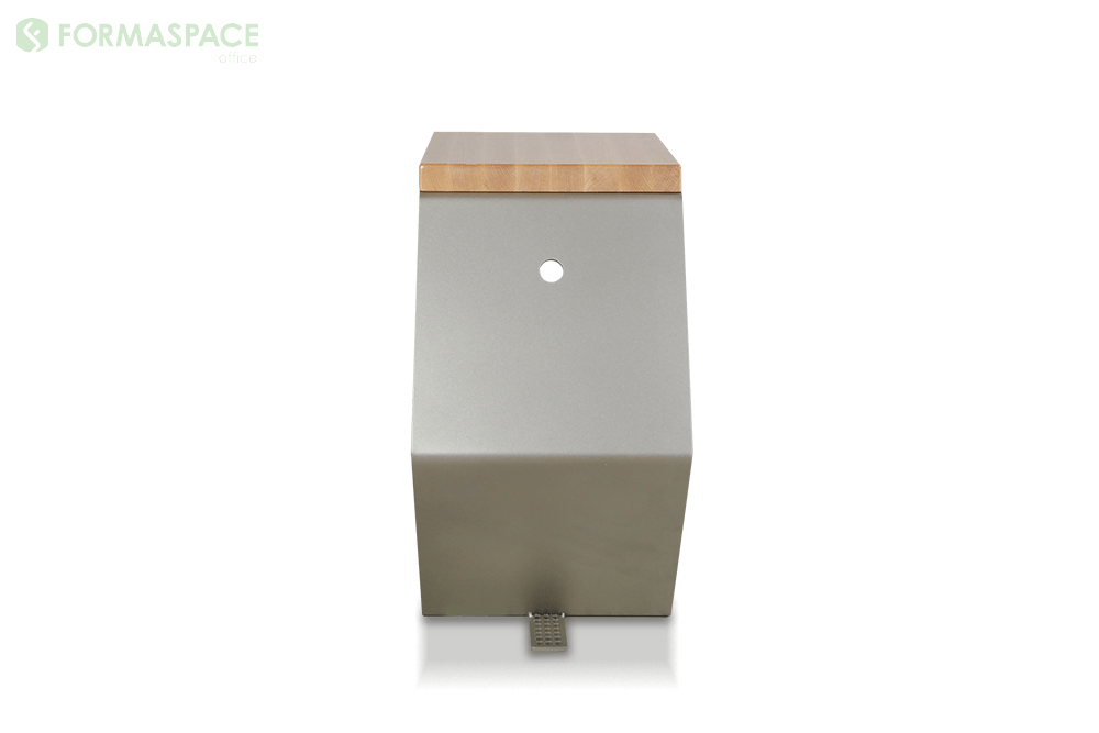 satin nickel c shaped side table