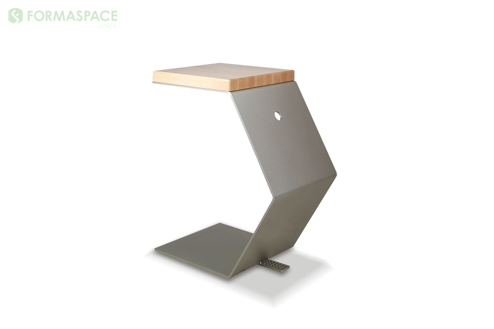 satin nickel c shaped table
