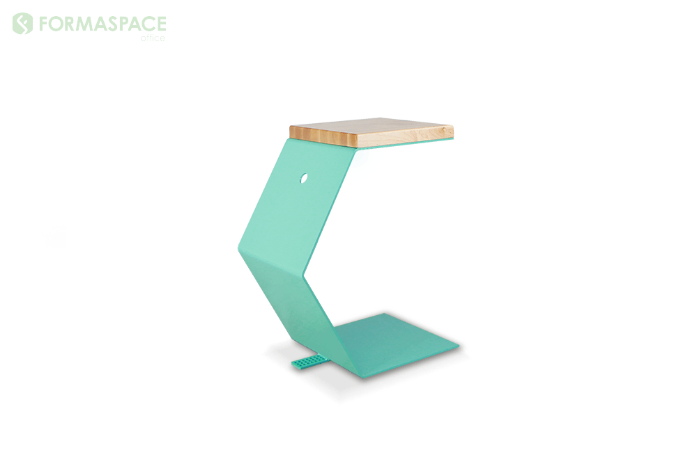turquoise c shaped table