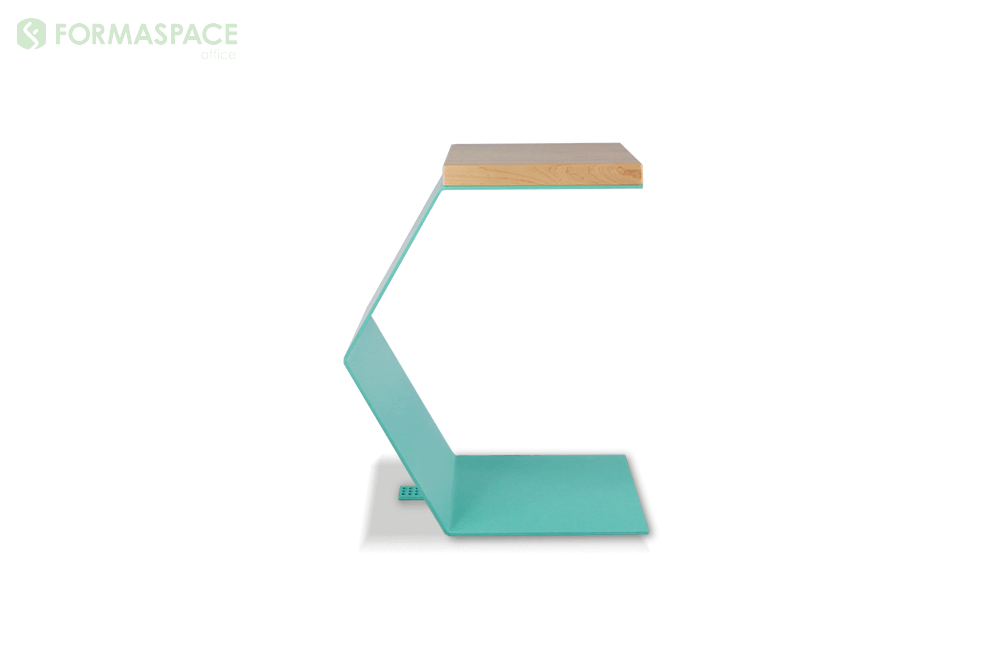 turquoise c shaped end table