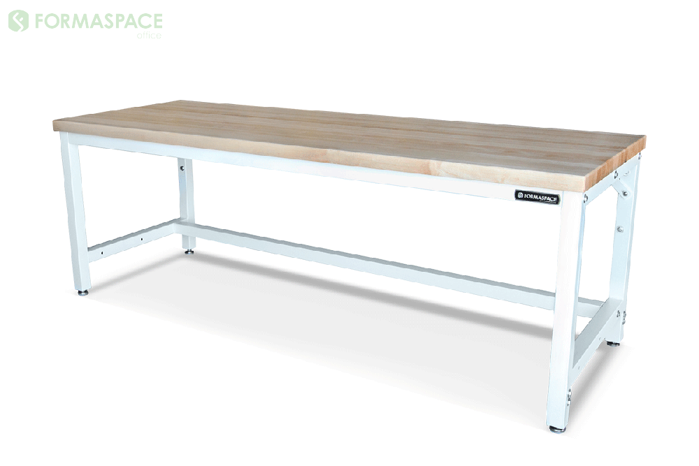 bolted steel frame workbench