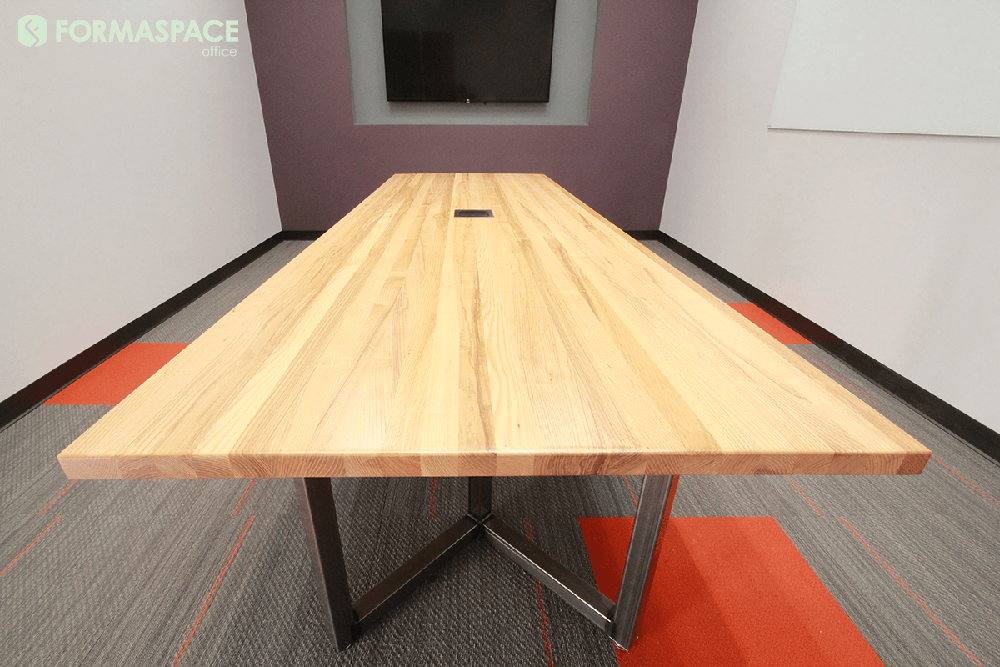 custom ash conference table