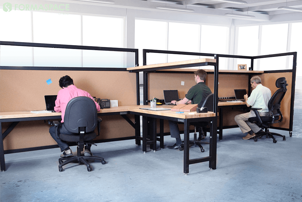 Higher Education Office Desks with Mobile Partitions