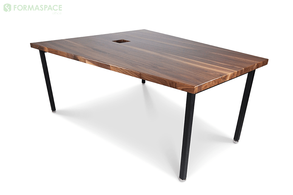 contemporary solid walnut conference table
