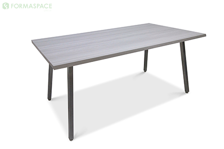 gray laminate angled leg table thumbnail