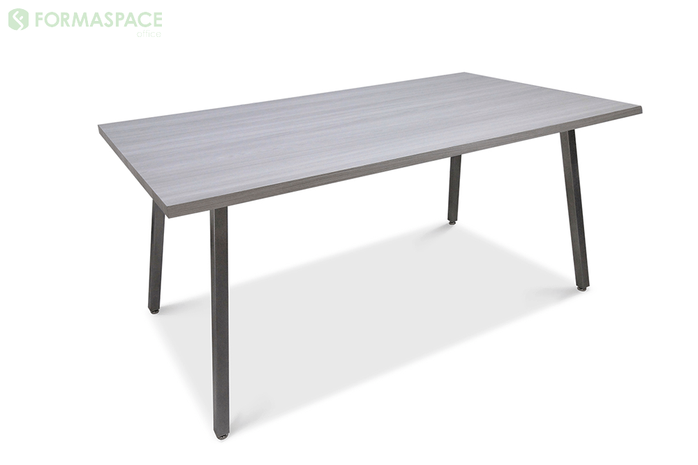 gray laminate angled leg table
