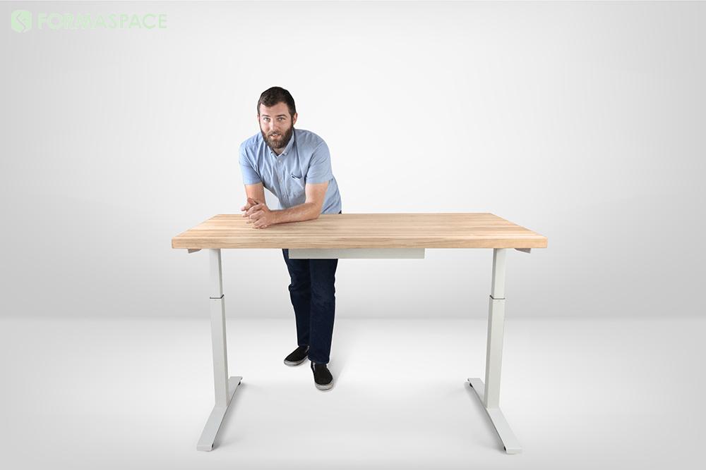 height adjustable custom desk
