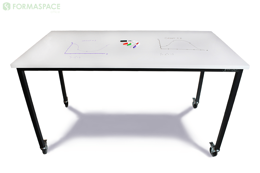 Dry Erase Top Table Made for Brainstorming and Collaboration