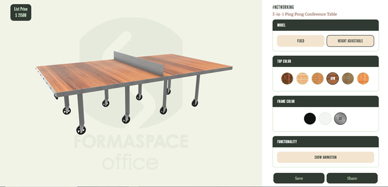 formaspace office conference table