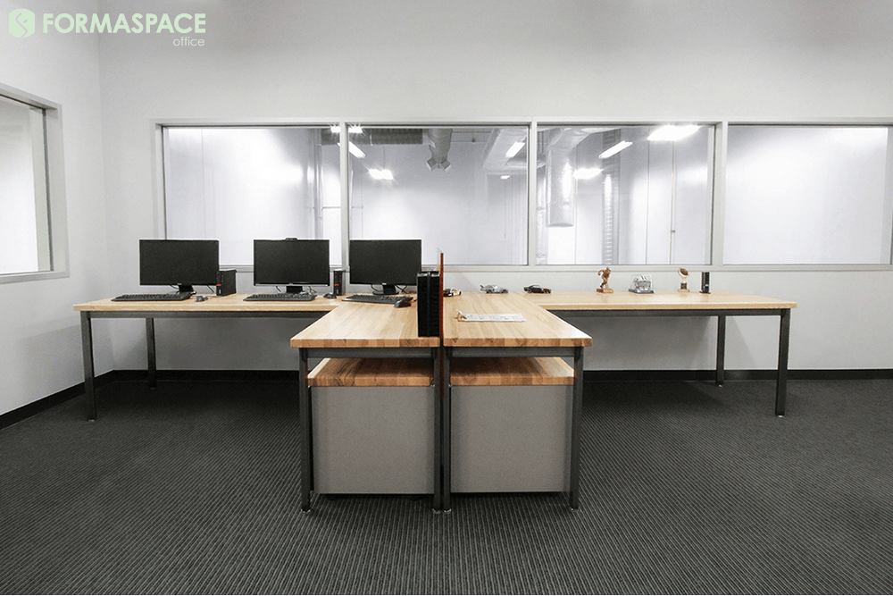 industrial open office desking