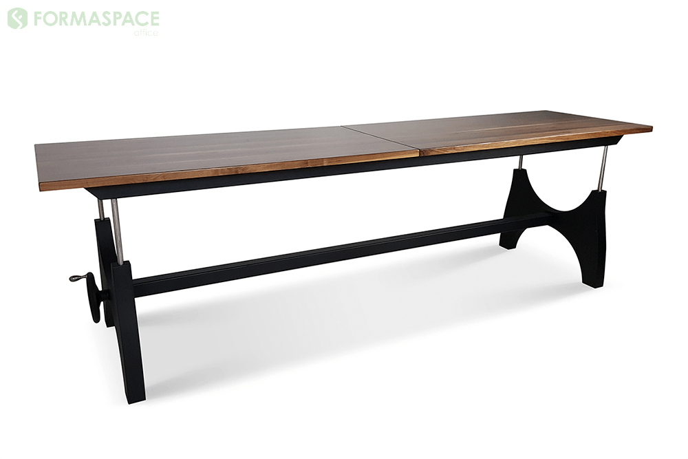hand-cranked tall conference table