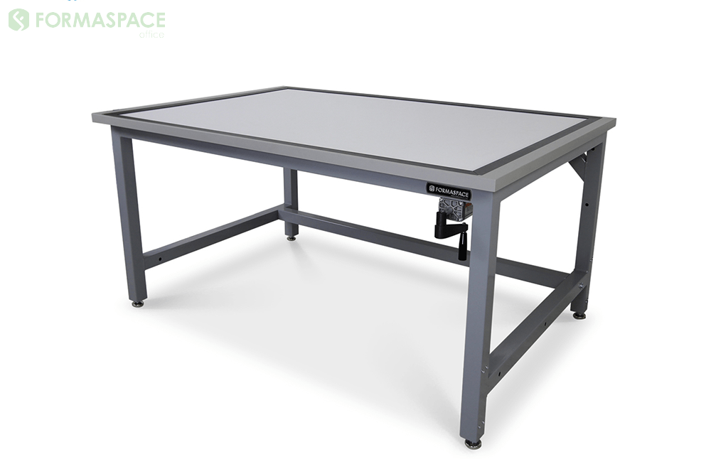 gray frame drafting table