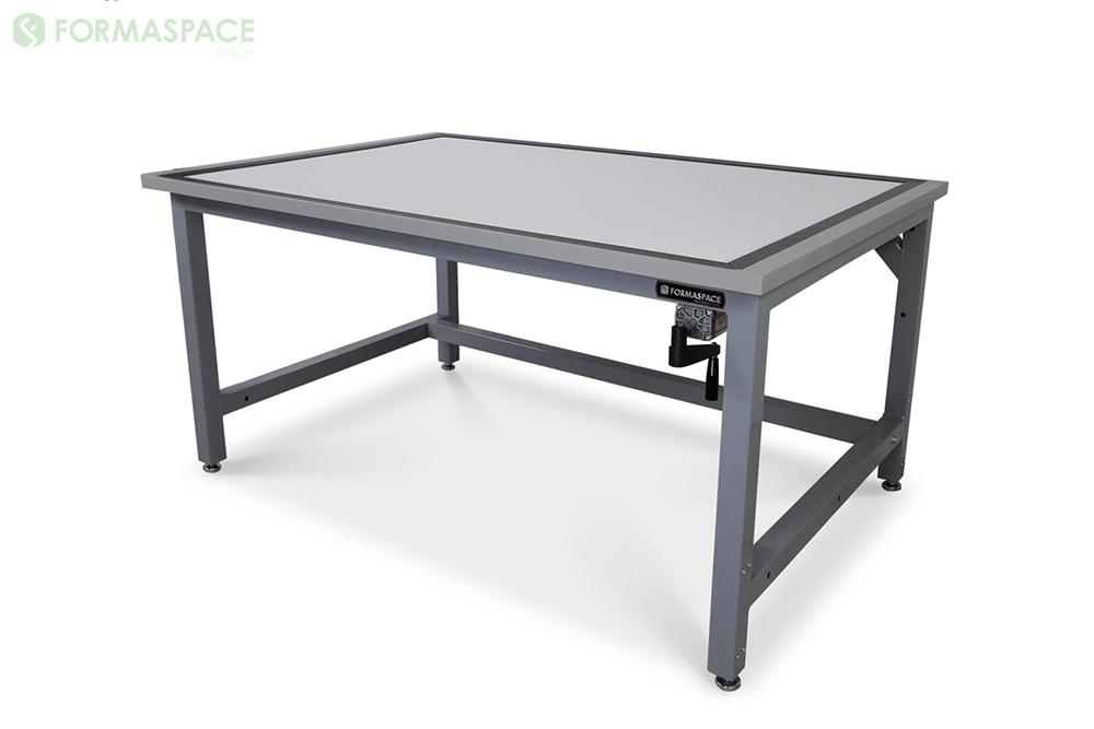 gray frame drafting table