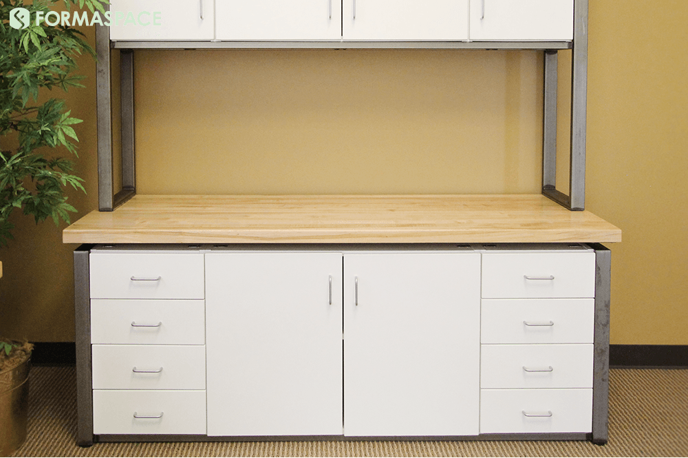 white laminate credenza storage