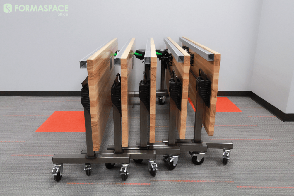 mobile tilting training tables