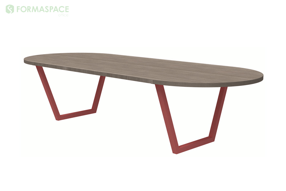 laminate woodgrain racetrack conference table