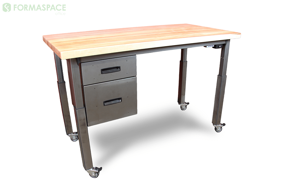 height adjustable office desk with hydraulics