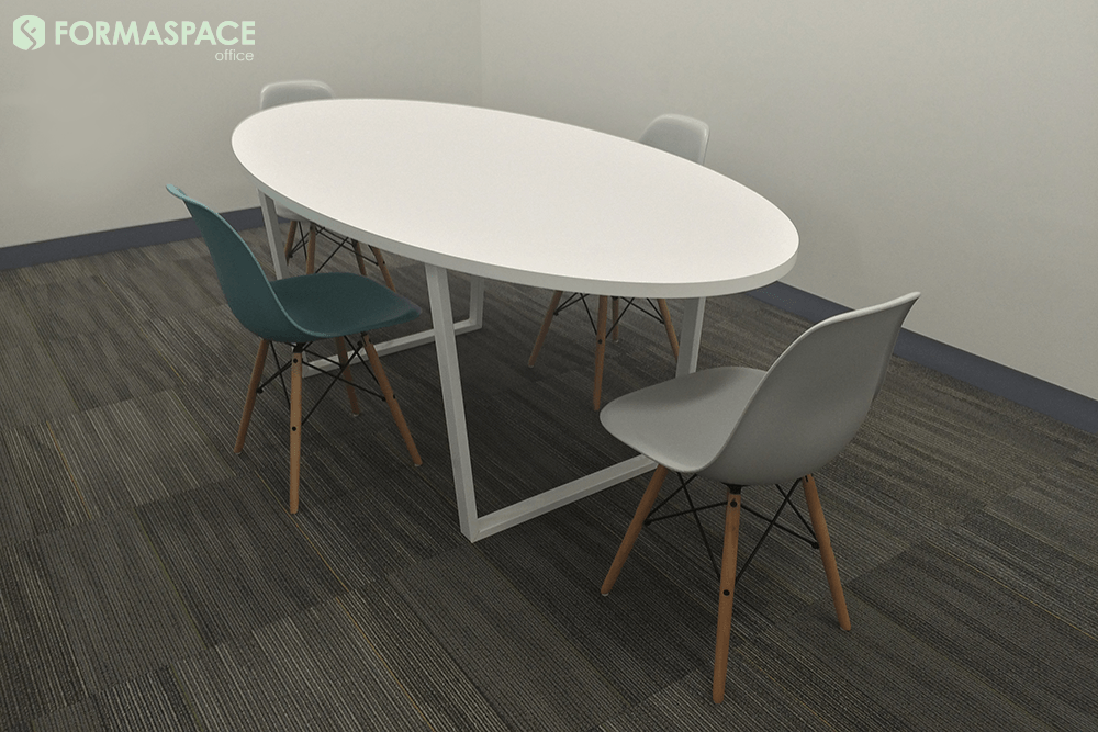 white bottlenose small conference table