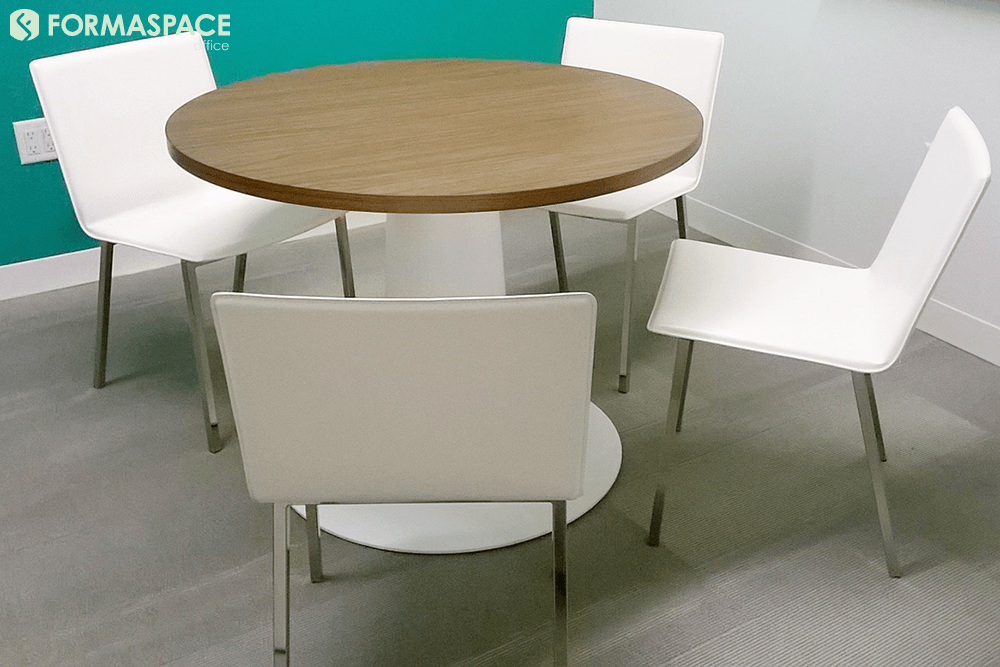 small round collaboration table