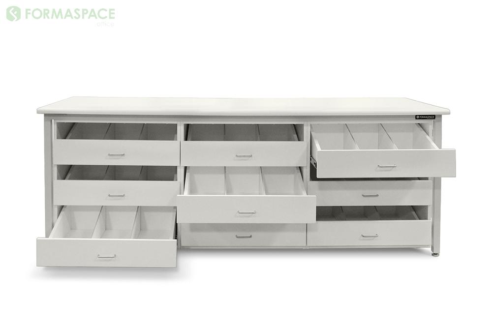 white storage unit custom