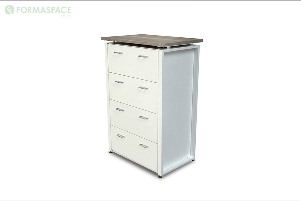 white laminate lateral file