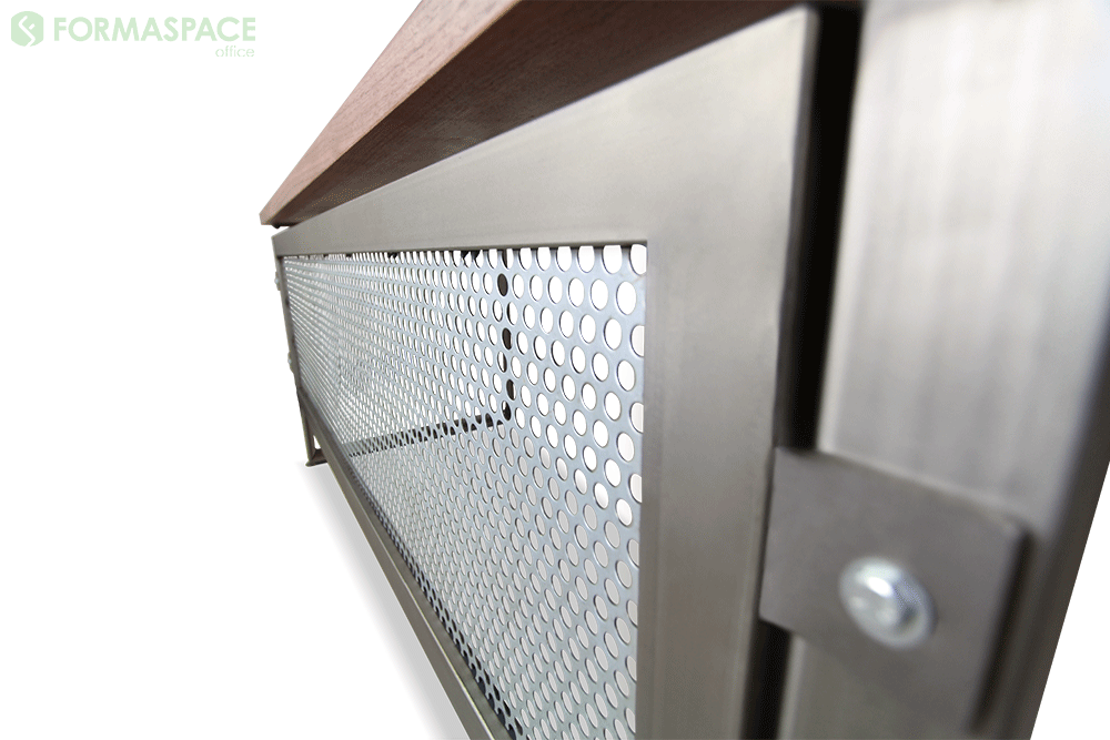 details of steel cut out modesty panel