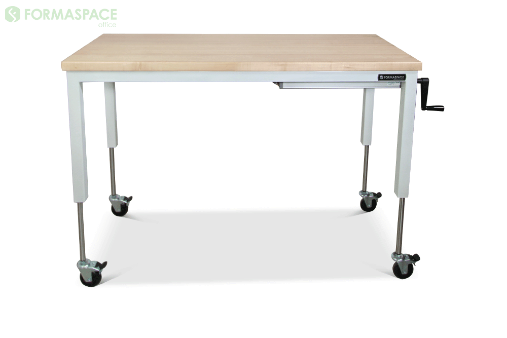 sit to stand desk the solid maple top