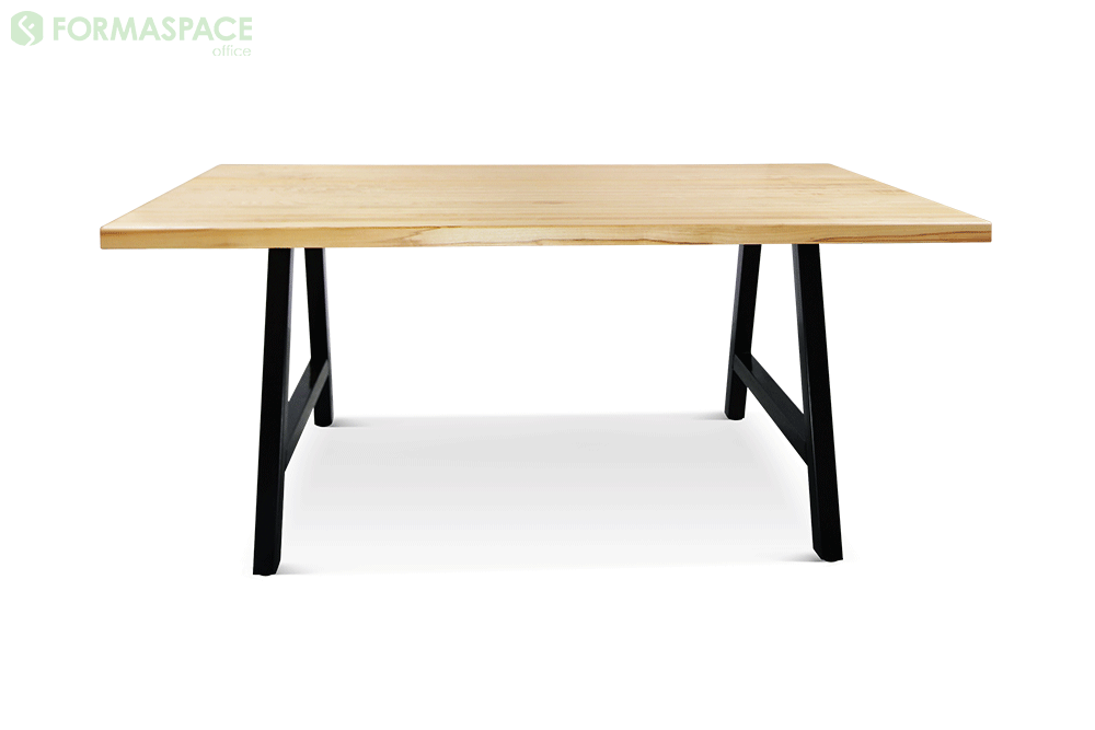 rectangular conference table with oak top