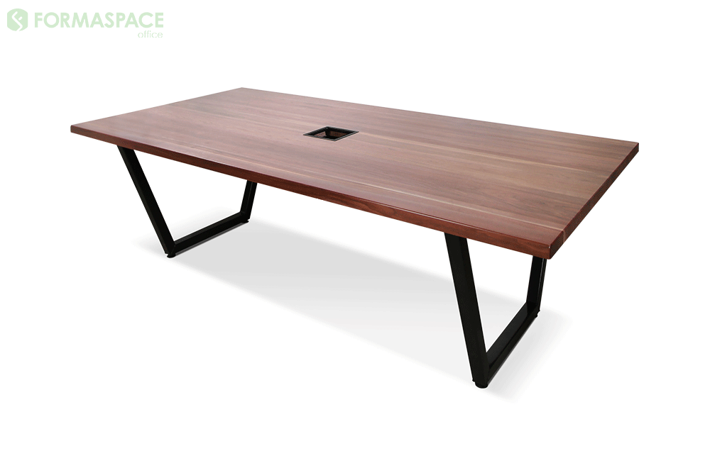 conference table with black frame