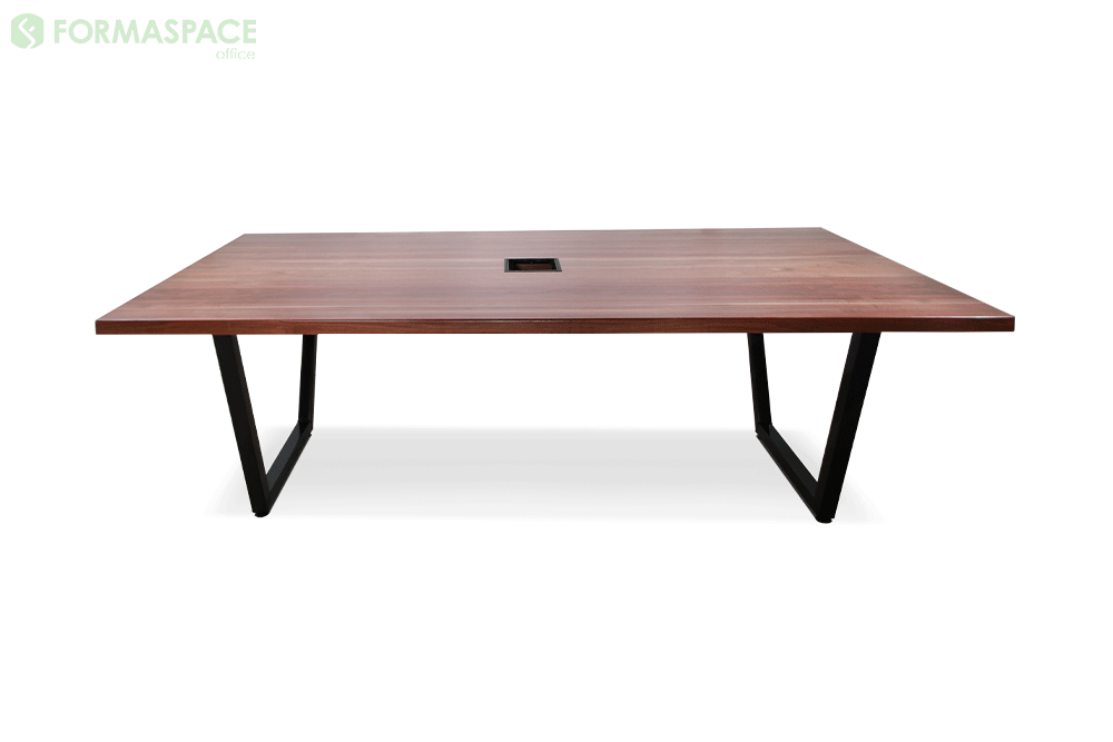 walnut rectangular conference table