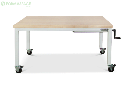 manual hand crank height adjustable desk thumbnail