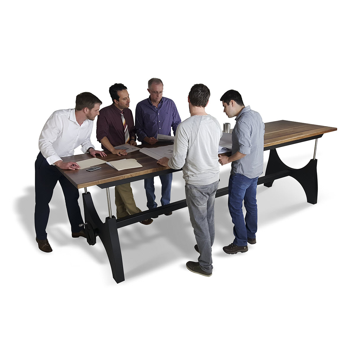 Standing at Height Adjustable Conference Table