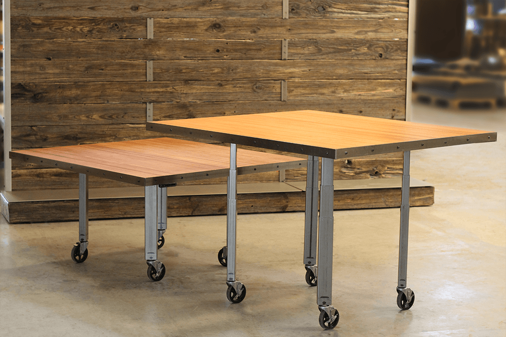 flexible height adjustable conference table