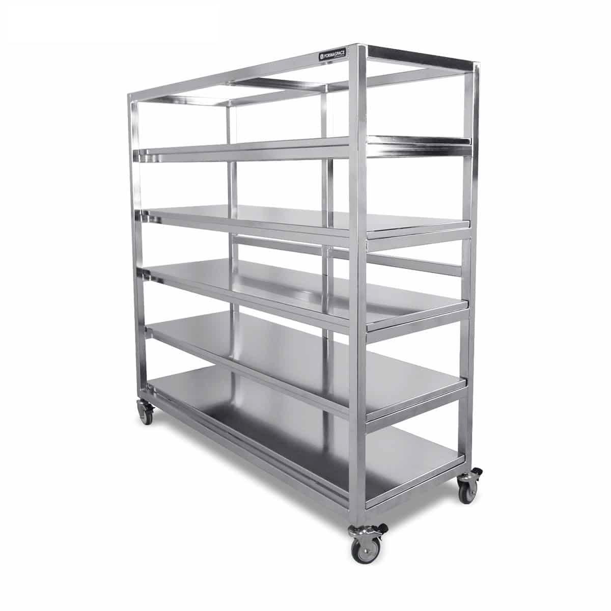 mobile stainless steel shelves