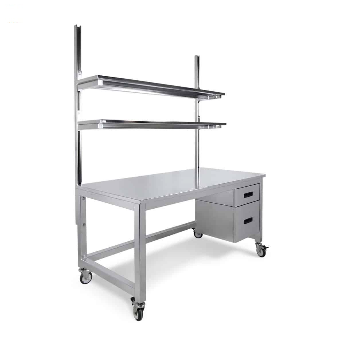 stainless steel bench upper shelves