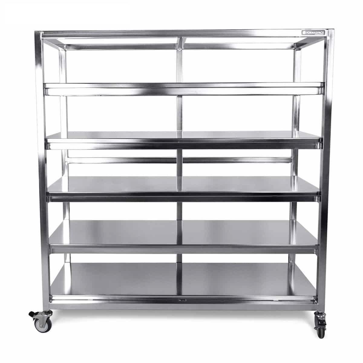 stainless steel fixed shelves